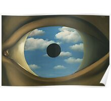 The False Mirror - Magritte Poster