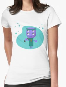 80s Fitness Alien Womens Fitted T-Shirt