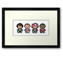 STRANGER THINGS PIXEL Framed Print