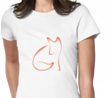 Simple Fox Womens Fitted T-Shirt