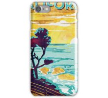 Coastal California: Explore Miles of Shore. Pacific Coast Highway Vintage Poster Watercolor Painting on Canvas iPhone Case/Skin