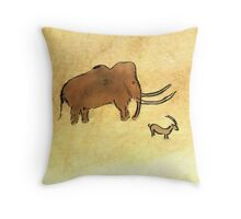 Lascaux - Mammut Throw Pillow