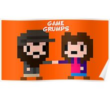 8-bit Game Grumps Fistbump Poster