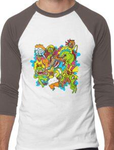 Monster Mayhem Graffiti Splash Mountain Men's Baseball ¾ T-Shirt