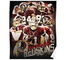 Washington Football Team Sports Art Kirk Cousins Jackson Norman Poster