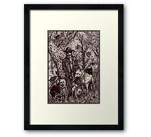 In the dark forest Framed Print