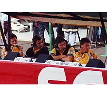 Benetton Pit Wall, Portugal 1992 Photographic Print
