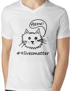 #9livesmatter Mens V-Neck T-Shirt