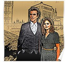 Doctor and Clara Mixed Sketch Poster