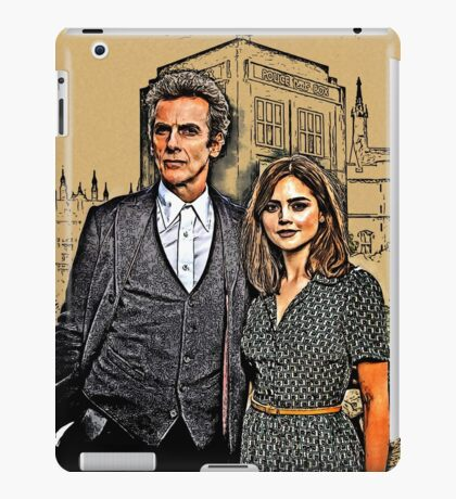 Doctor and Clara Mixed Sketch iPad Case/Skin