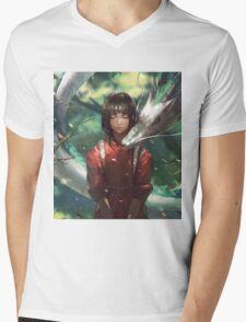 Dragon Haku and Chihiro  Mens V-Neck T-Shirt
