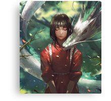 Dragon Haku and Chihiro  Canvas Print