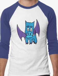 Xavier the PuppyDragon Men's Baseball ¾ T-Shirt