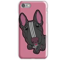 Sporty Bull Terrier Black and White iPhone Case/Skin