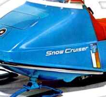 Snow Cruiser Vintage Snowmobiles Sticker