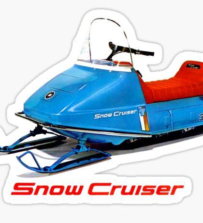 Snow Cruiser Vintage Snowmobiles Sticker