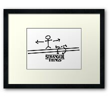 STRANGER THINGS THE ACROBAT AND THE FLEA  Framed Print