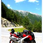 Kawasaki ZX-9R am Hahntennjoch by ©The Creative  Minds