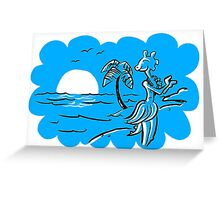 Hula-sauraus - Now in Blue! Greeting Card