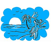 Hula-sauraus - Now in Blue! Photographic Print