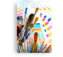 Paints and brushes Canvas Print