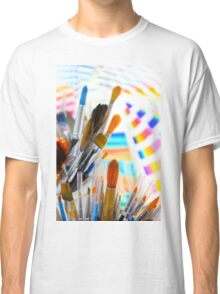 Paints and brushes Classic T-Shirt