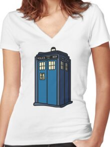 Public Call Box Women's Fitted V-Neck T-Shirt