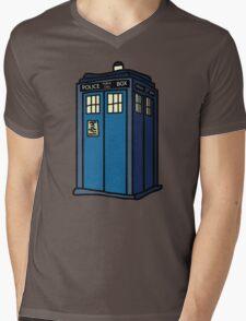 Public Call Box Mens V-Neck T-Shirt