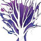 Purple Ink Tree by RachelSheree