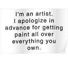 I'm An Artist... Poster
