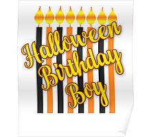 Halloween Birthday Boy with Candles Poster