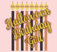Halloween Birthday Girl with Candles Kids Tee