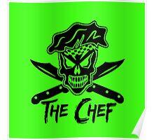 Chef Skull: Black Poster