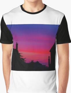 Red Sky - Unique Photography Graphic T-Shirt