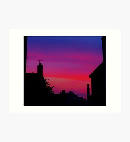 Red Sky - Unique Photography Art Print