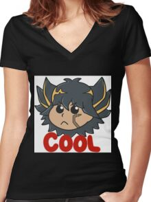 Yusei Fudo is Cool Women's Fitted V-Neck T-Shirt