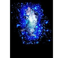 Psychedelic Galaxy Cat in space Photographic Print