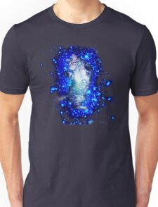 Psychedelic Galaxy Cat in space Unisex T-Shirt