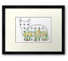 Daffodil Cat Framed Print