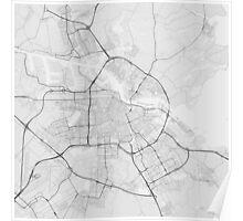 Amsterdam, Netherlands Map. (Black on white) Poster