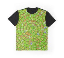 Carcassonne swirl Graphic T-Shirt