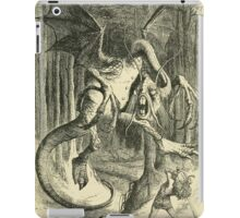 Through the Looking Glass Lewis Carroll art John Tenniel 1872 0043 Jabberwock iPad Case/Skin