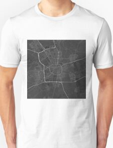 Eindhoven, Netherlands Map. (White on black) Unisex T-Shirt