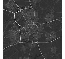 Eindhoven, Netherlands Map. (White on black) Photographic Print