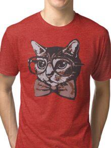 Nerd Cat Tri-blend T-Shirt