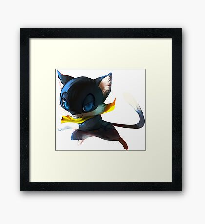 Feline heart thief  Framed Print