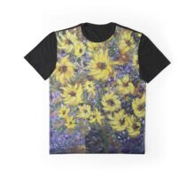 Misty Autumn, Sunflowers Graphic T-Shirt