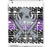 cat skull guns  iPad Case/Skin