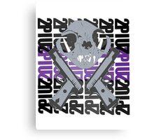 cat skull guns  Canvas Print