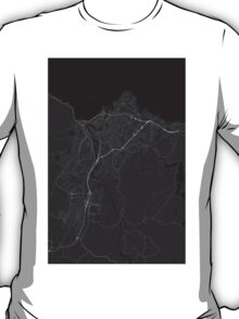Trondheim, Norway Map. (White on black) T-Shirt